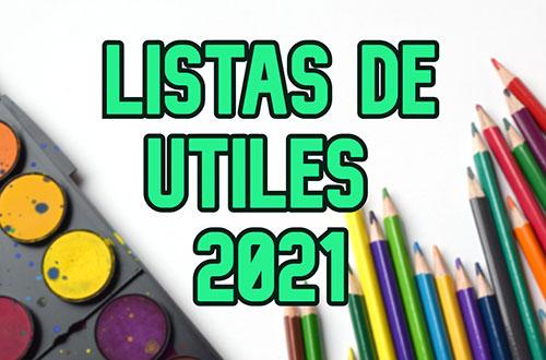Útiles 2021 pre-kinder & kinder