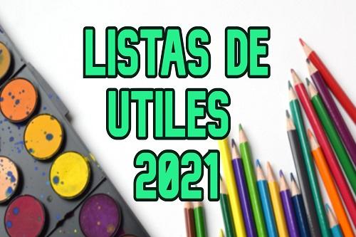 Lista útiles escolares 2021