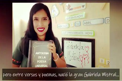 Educadoras y asistentes de párvulos homenajean a Gabriela Mistral
