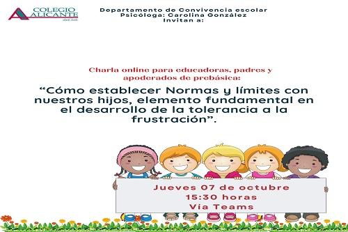 """Invitación Charla: """"Normas y Límites"""""""